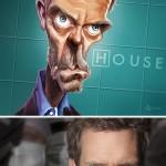 Карикатури од познатите актери во хит сериите