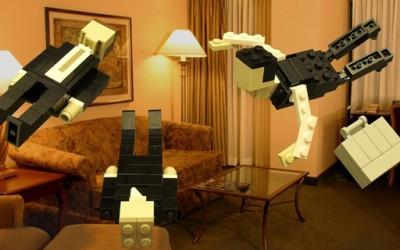 """Сцени од филмот """"Почеток"""" (Inception) направени од лего коцки"""