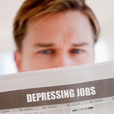 10 работни места со највисок степен на депресија