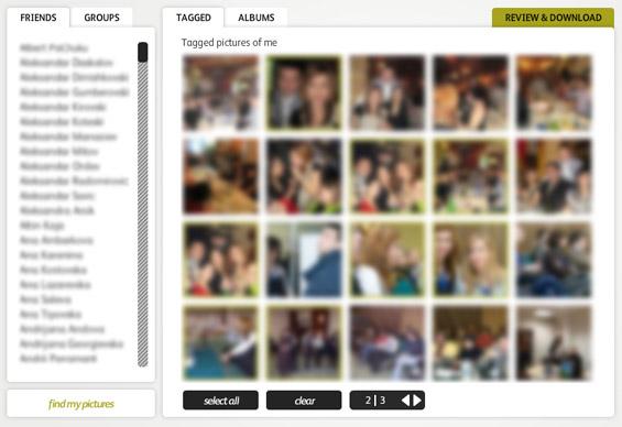 Преземајте албуми со слики од Фејсбук