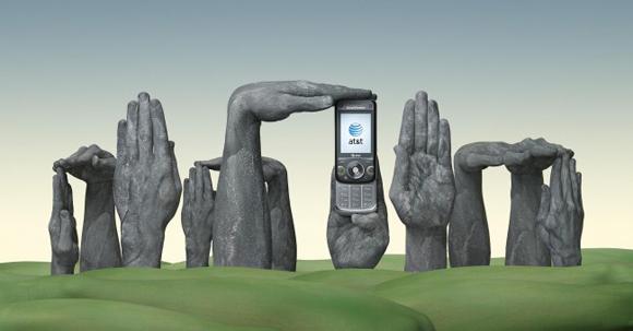 Уметнички раце во реклами за AT&T International