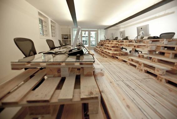 Канцеларија од палети