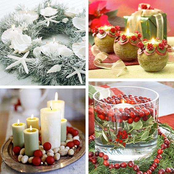 (4) Декорација на Божиќни свеќи