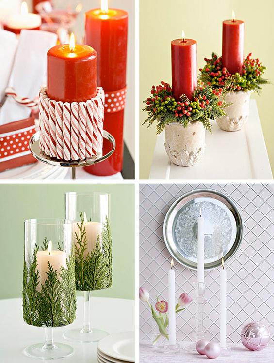 (6) Декорација на Божиќни свеќи