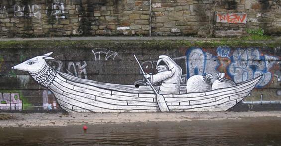 Фантастични црно-бели графити