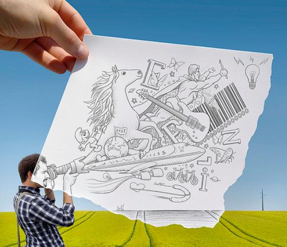 """Фотографии """"доцртани со молив"""""""
