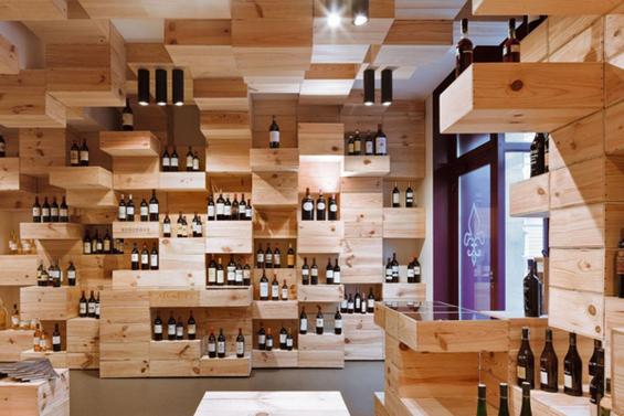 Шик продавница за вино