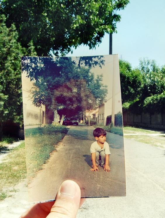 Фотографирани фотографии од минатото