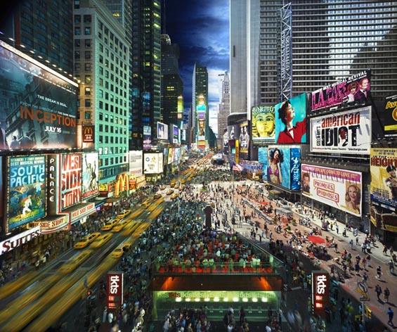 Денот и ноќта на Њујорк во иста фотографија