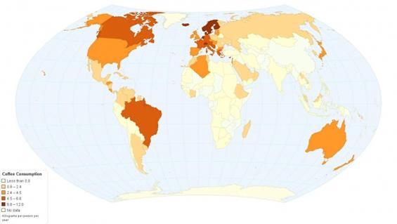 Каде се пие најмногу кафе во светот?
