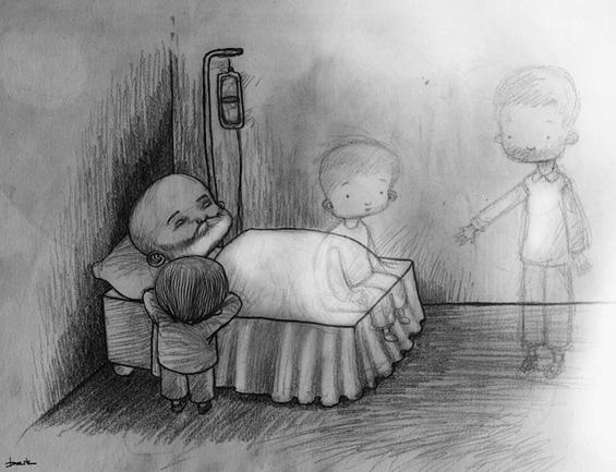 Едноставни цртежи спакувани во тага и заборав