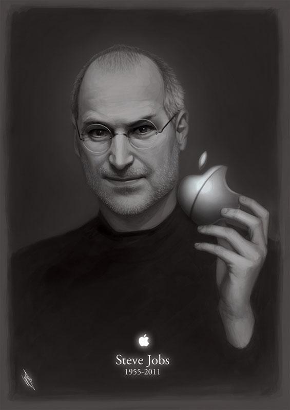 Илустрации во сеќавање на Стив Џобс