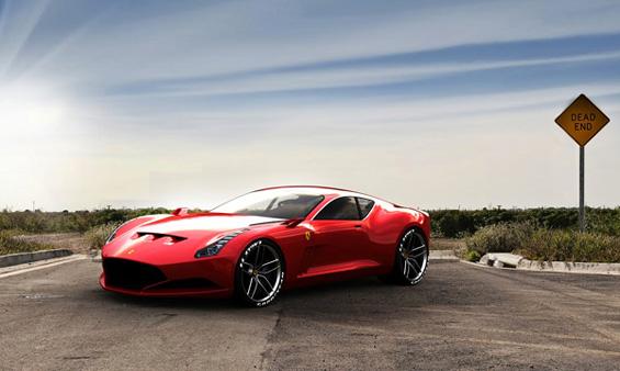 Фантастичен концепт изработен за Ферари
