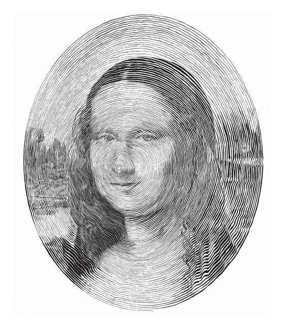 Кружни портрети нацртани без подигање на пенкалото