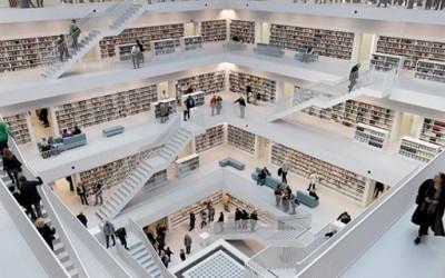 Ултра модерна библиотека во Штутгарт