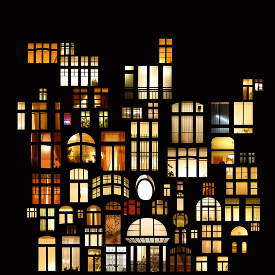Светлината која ѕирка од прозорците на куќите