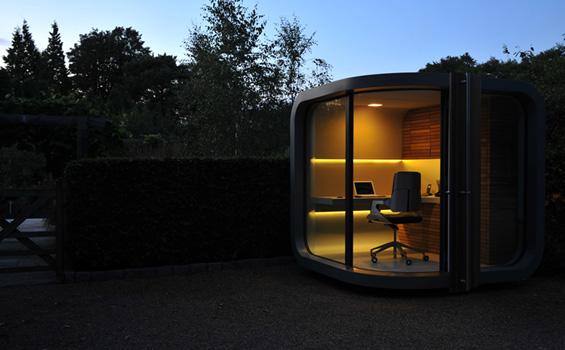 Канцеларија во двор за оние кои работат од дома