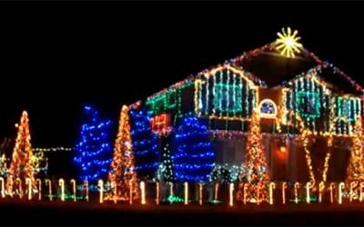 Новогодишно лајт-шоу со 40 илјади светла