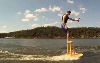 Скијање на вода на шанкерско столче