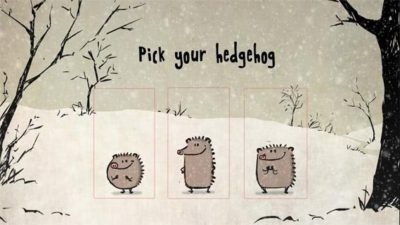 Три слатки ежиња ви посакуваат среќни празници