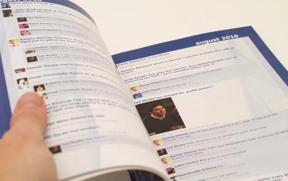 Како би изгледал Фејсбук испечатен на хартија?