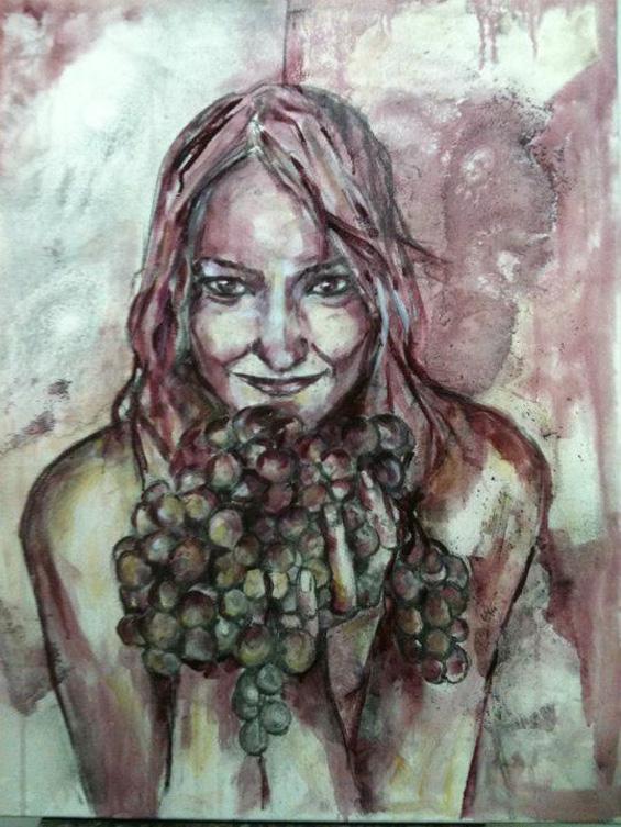 Моќни портрети насликани со вино