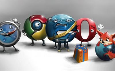 """Неверојатни илустрации за """"Битката помеѓу веб-прелистувачите"""""""