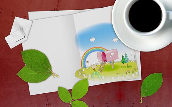 Пролетна кафе-позадина за вашиот десктоп (#66)