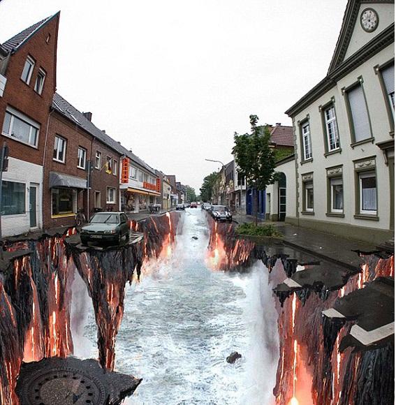 Импресивна 3Д улична уметност