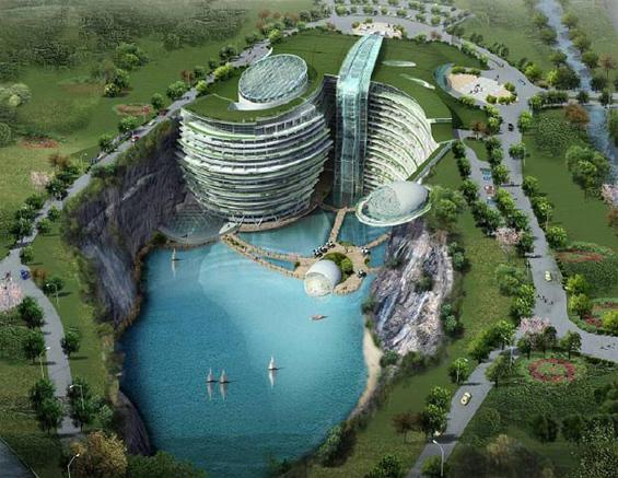 Неверојатен хотел сместен на дното на јама
