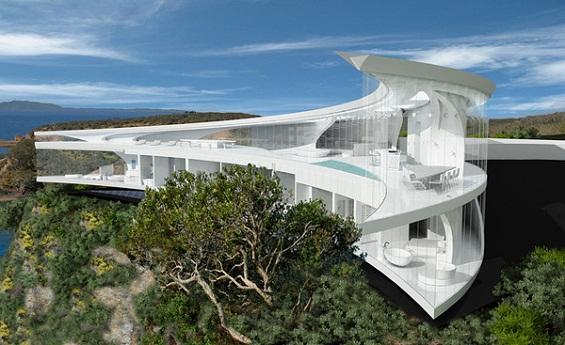 Куќа од соништата во форма на полумесечина