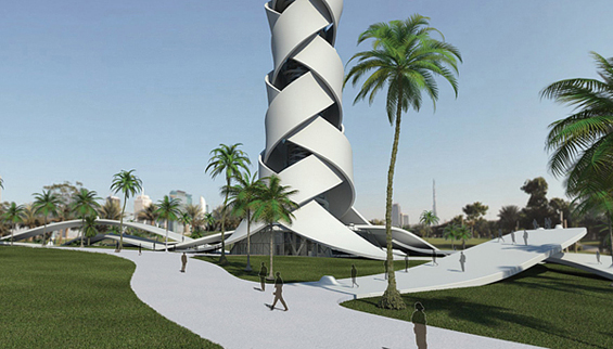 Кула во форма на палма во богатиот Дубаи
