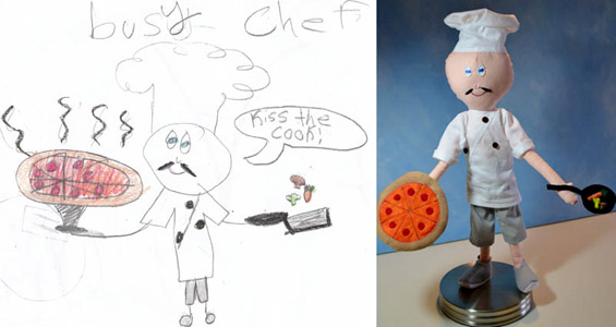 Детски цртежи претворени во плишани играчки