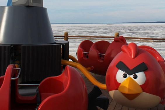 """Се отвори забавен парк инспириран од играта """"Angry Birds"""""""