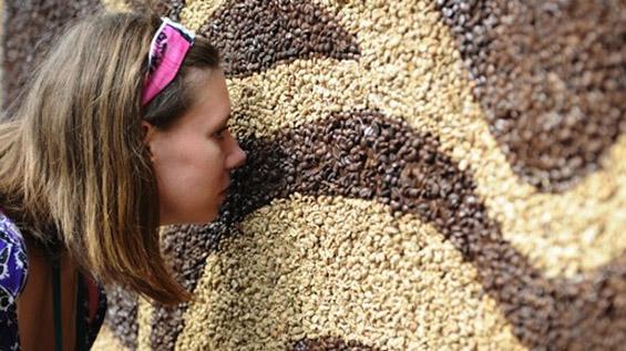 Најголемата слика во светот направена од зрна кафе