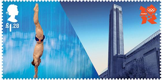 Поштенски марки инспирирани од Олимписките игри во Лондон