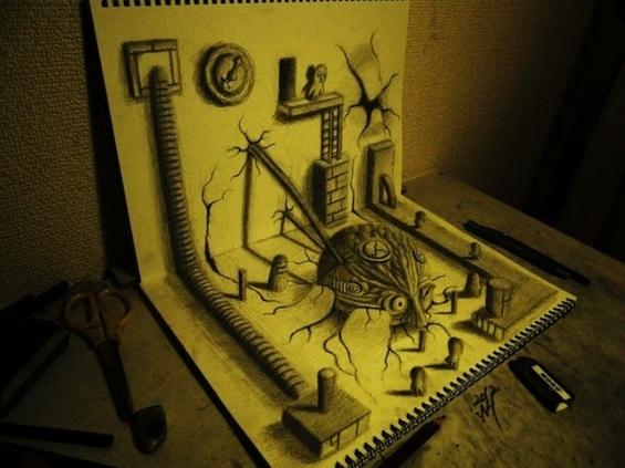 Неверојатни тридимензионални цртежи