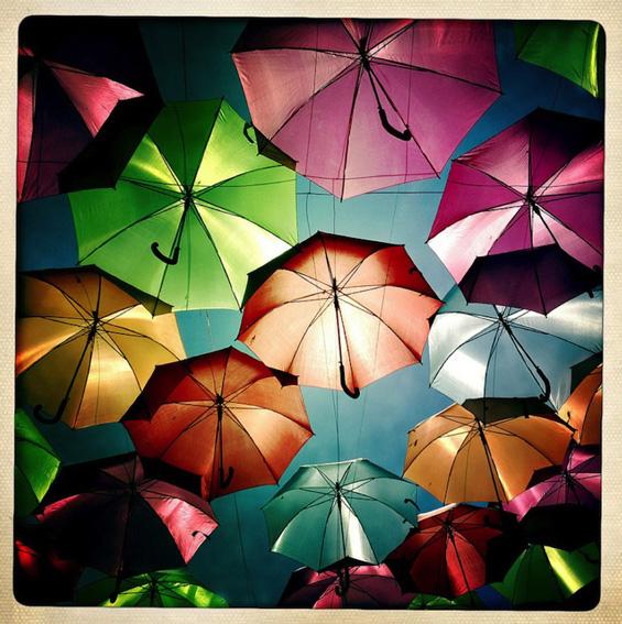 Шарени чадорчиња кои волшебно лебдат во воздух