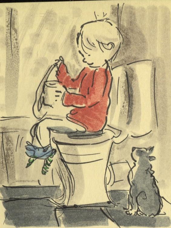 Мајка го црта целиот живот на својот двегодишен син