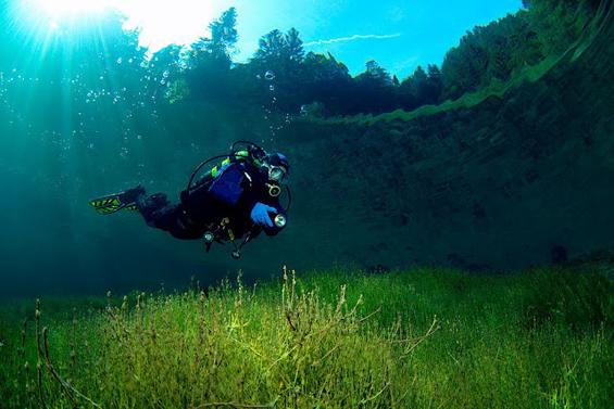 Парк на Алпите, што на лето станува прекрасно езеро
