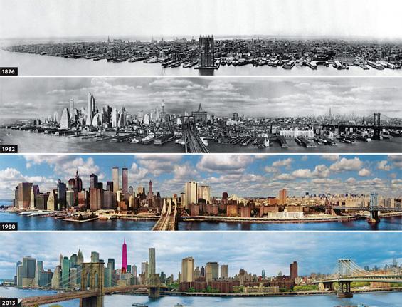 Развојот на Њујорк од 1879 година до денес