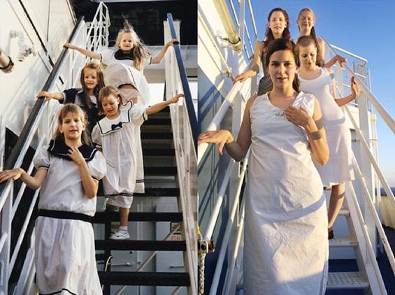 Четири сестри обновуваат фотографии од детството