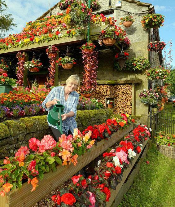 Брачен пар 26 години ја прекрива куќата со цвеќиња