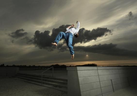 Возбудлива паркур галерија: кој вели дека луѓето не можат да летаат?
