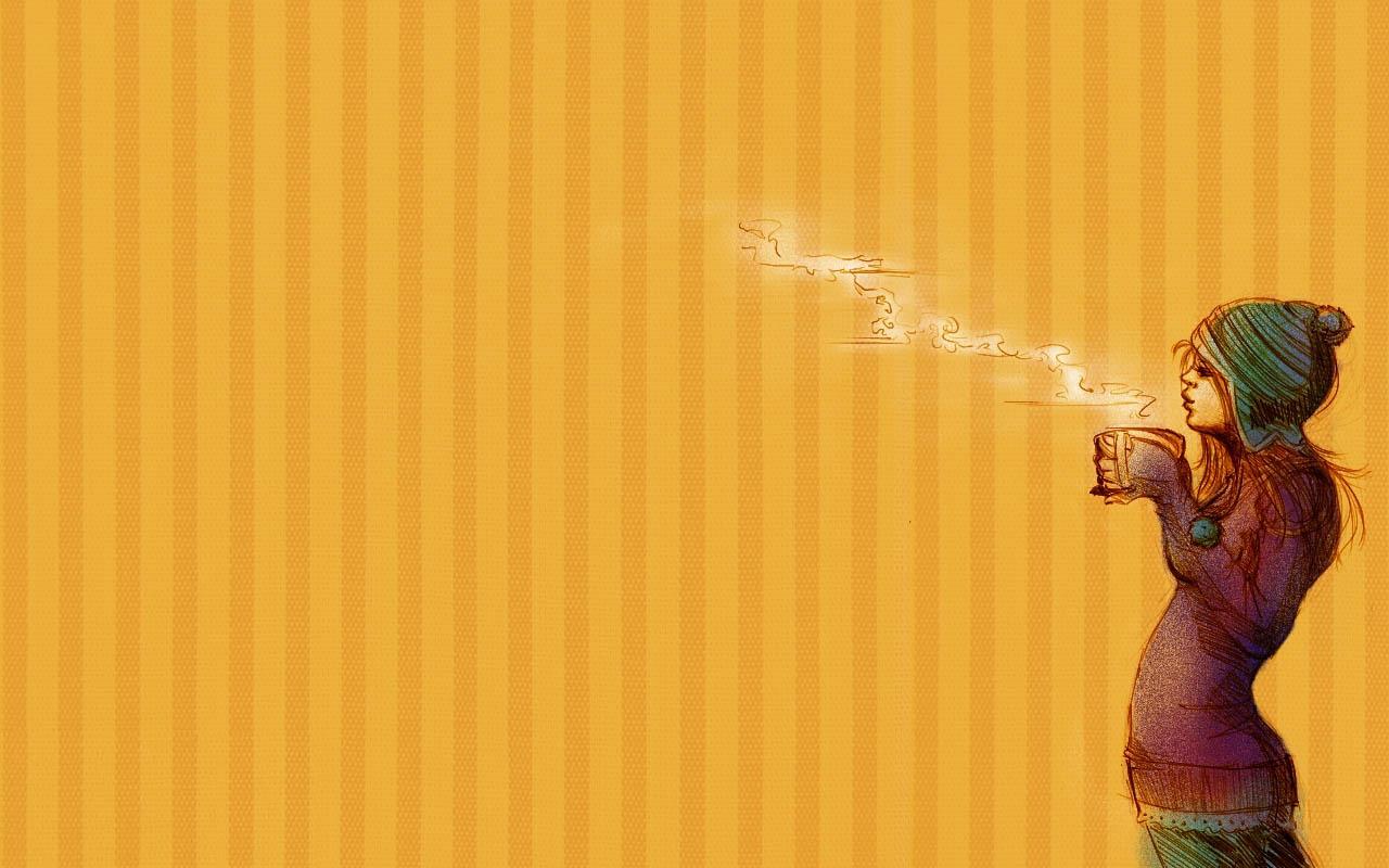 Есенска кафе-позадина за вашиот десктоп