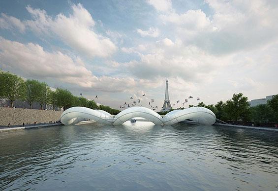 Мост-трамбулина во Париз