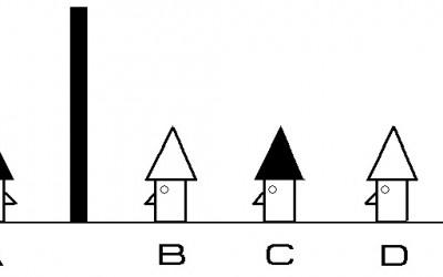 Загатка: Четворица мажи со капи