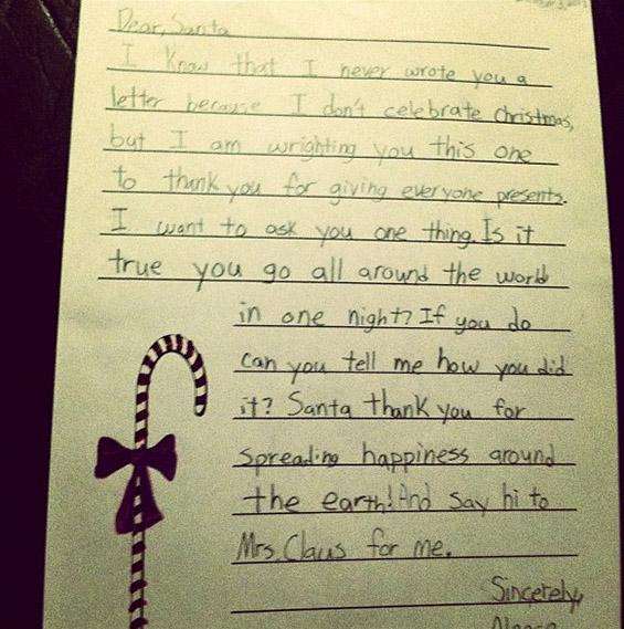 Писмо до Дедо Мраз од четвртоодделенец од муслиманска вероисповед