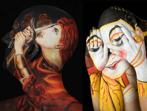 Уметничките слики насликани на човечкото тело
