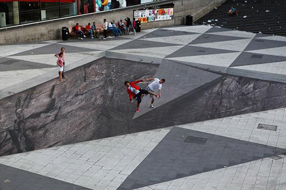Паметни форми на интерактивна улична уметност